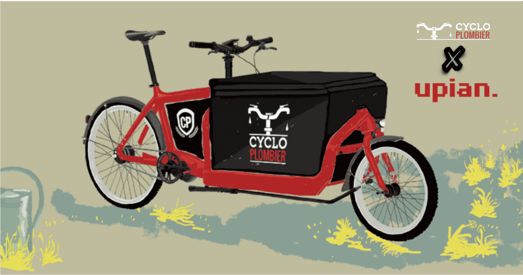 illustration du vélo cargo du Cycloplombier